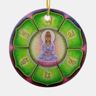 "Kuan Yin ""Om Mani Padme Hum"" Christmas Ornament"