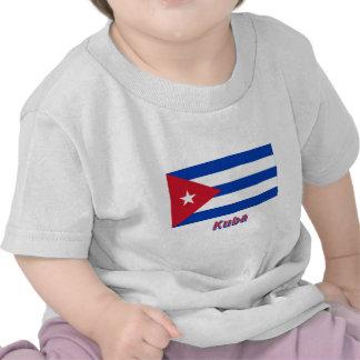 Kuba Flagge mit Namen T-shirt