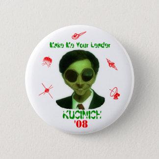 Kucinich '08 6 cm round badge