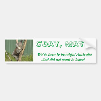 Kuddly Koalas in Australia Bumper Sticker