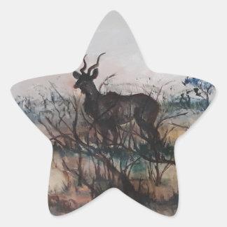 Kudu Bull Star Sticker