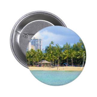 Kuhio Beach at Waikiki Oahu Hawaii Pins