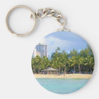Kuhio Beach at Waikiki, Oahu, Hawaii Keychains