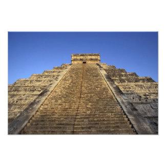 Kukulcan Temple or Castillo Castle) in 2 Photo Art