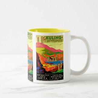 Kuling Vintage Chinese Travel Poster. Two-Tone Coffee Mug