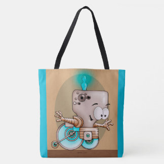 KUMO ROBOT CARTOON FUNNY TOTE BAG