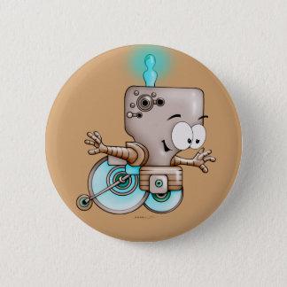 KUMO WHEEL CHAIR CUTE ALIEN ROBOT Button 2¼ Inch