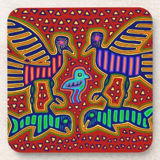 Kuna Indian Birds with Fish Beverage Coasters
