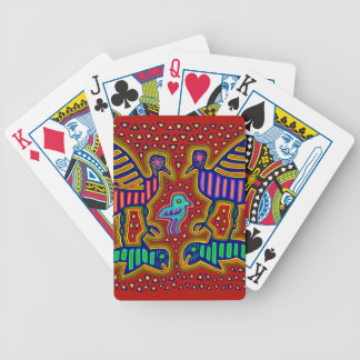 Kuna Indian Birds with Fish Bicycle Playing Cards