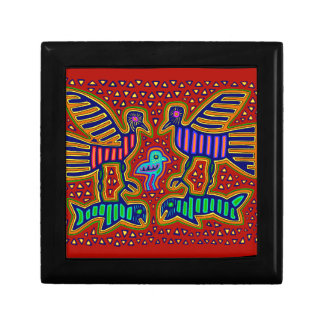 Kuna Indian Birds with Fish Gift Box