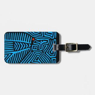 Kuna Indian Blue Bird Luggage Tag