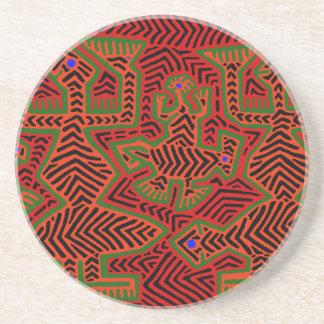 Kuna Indian Mola Spirits Coaster