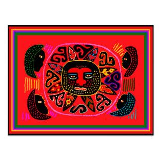 Kuna Tribal Del Sol Postcard