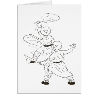 Kung fu battle scene card