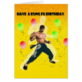 kung fu birthday card