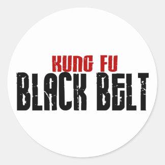 Kung Fu Black Belt Karate Classic Round Sticker