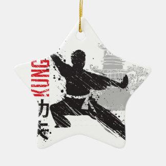 Kung Fu Ceramic Ornament