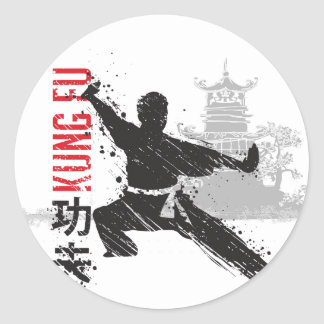 Kung Fu Classic Round Sticker