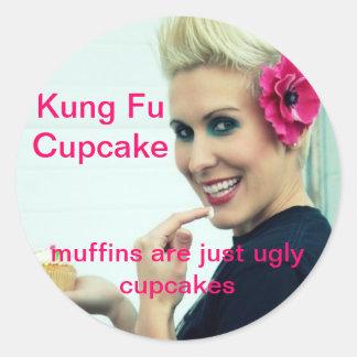 Kung Fu Cupcake Classic Round Sticker
