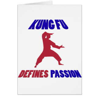 Kung Fu design Card