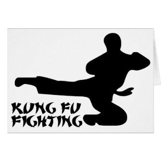 Kung Fu Flying Kick Card