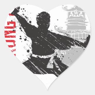 Kung Fu Heart Sticker