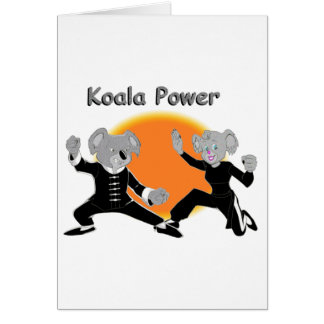 Kung Fu Koalas Card