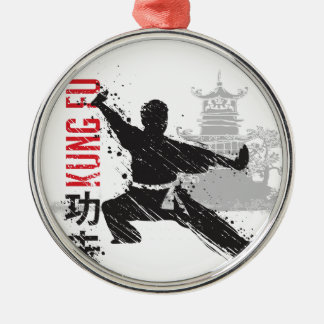 Kung Fu Metal Ornament