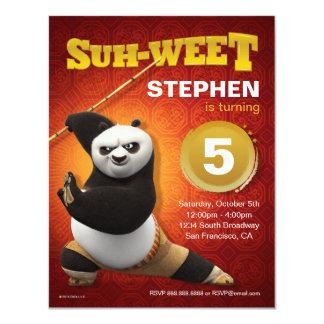 Kung Fu Panda   Po Warrior Birthday 11 Cm X 14 Cm Invitation Card