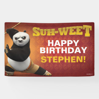 Kung Fu Panda | Po Warrior Birthday Banner