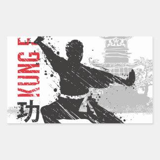 Kung Fu Rectangular Sticker