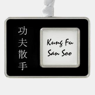 Kung Fu San Soo Silver Plated Framed Ornament