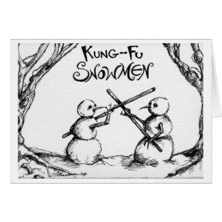 Kung Fu Snowmen Card