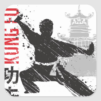 Kung Fu Square Sticker