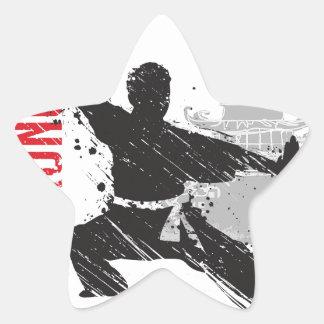 Kung Fu Star Sticker