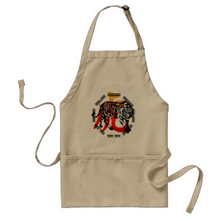 Kung Fu Tiger  and symbol Apron