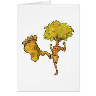 Kung Fu Tree Card
