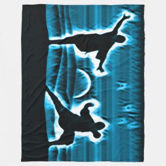 Kung Fu Warrior Spirits Fleece Blanket