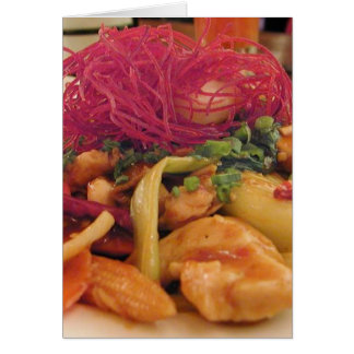 Kung Pao Chicken Food Dinner Card