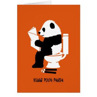 Kung Pooh Panda Funny Birthday Greeting Card