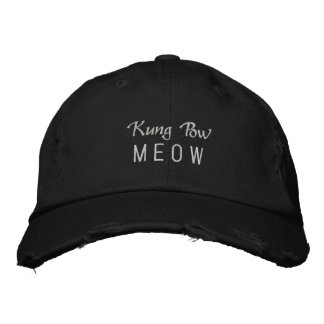 Kung Pow MEOW Embroidered Baseball Caps