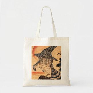 Kuniyoshi Hawk Tote Bag