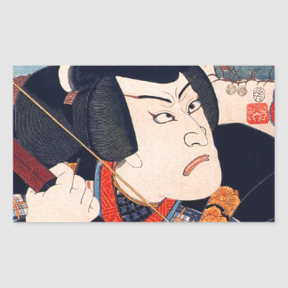 Kuniyoshi The Actor Rectangular Sticker