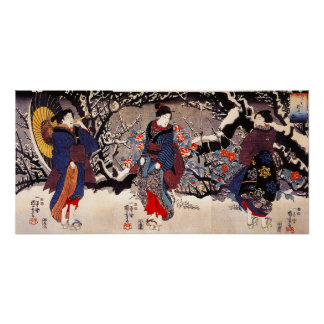 Kuniyoshi Three Women Poster