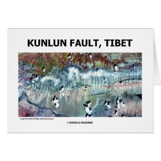 Kunlun Fault Tibet Card