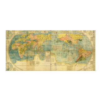 Kunyu Wanguo Quantu 1602 Japanese World Map Canvas Prints
