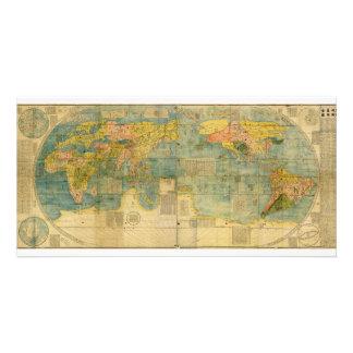 Kunyu Wanguo Quantu 1602 Japanese World Map Personalized Photo Card