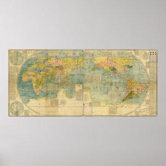 Kunyu Wanguo Quantu Map by Matteo Ricci Poster