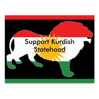 Kurdish Flag postcard