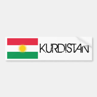 Kurdistan Flag Bumper Sticker